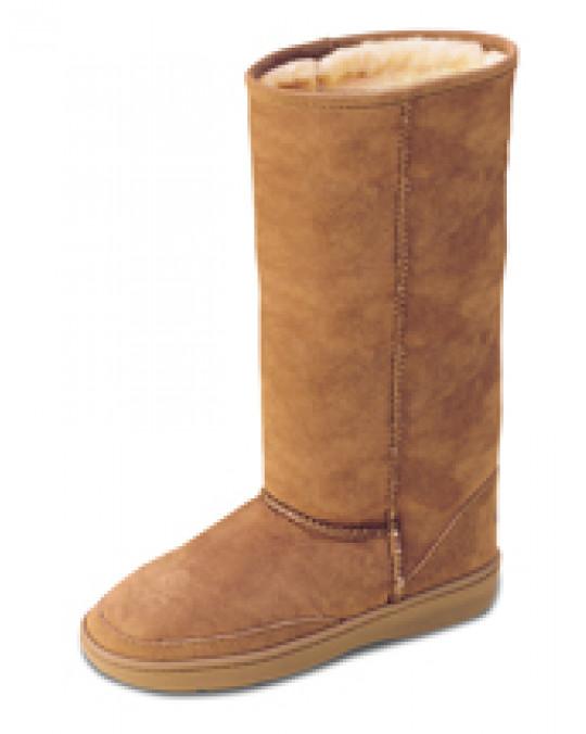 Winter Sheepskin (Lammfell) Mokassin Stiefel mit robuster Sohle in 3 Farben