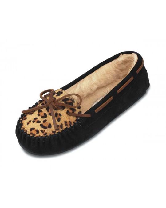 Slipper Leopard Cally, gefütterter Damen-Hausschuh