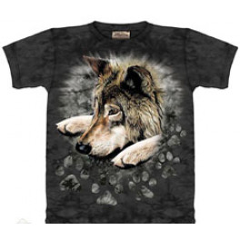 """""""Wolf in Dye Paw"""" Kinder T-Shirt"""