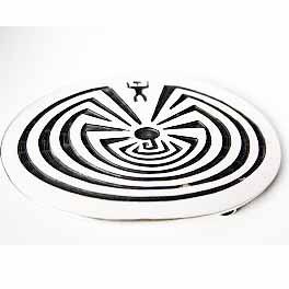 Gürtelschnalle Man in the Maze Labyrinth