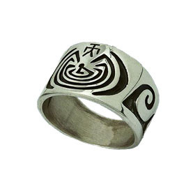 """Ring Lebens-Labyrinth """"Man in the Maze"""""""