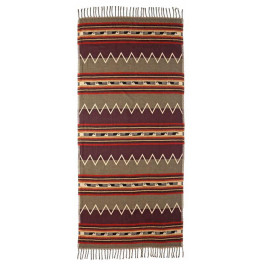 Ethno-Schal in Naturtönen, extragross