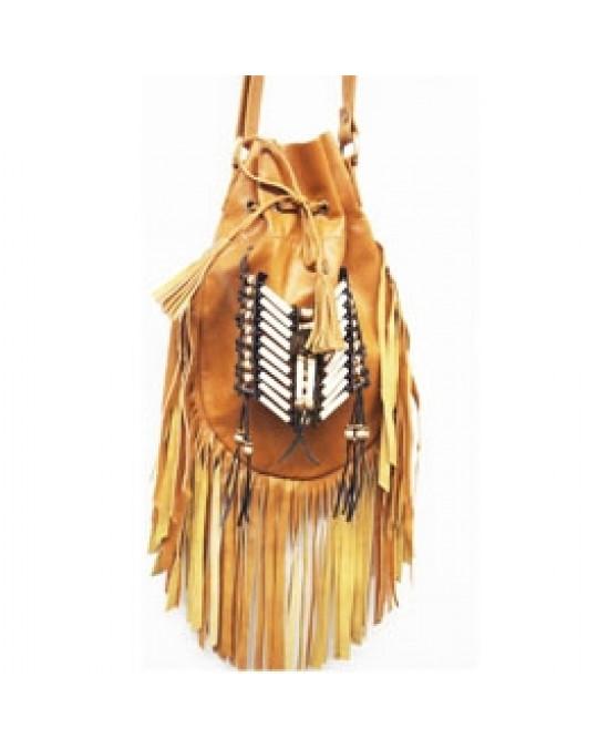 Ethno Tasche, aus weichem, sanften Leder