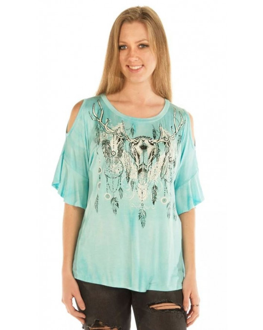 """Dreamcatcher Sky"" Damen T-Shirt in L und XL"