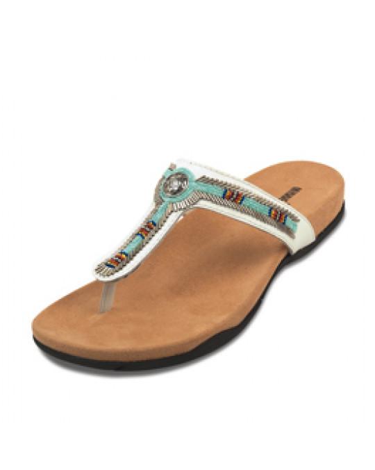 """Sandale mit Glasperlen, weiss, """"Ventura"""""""