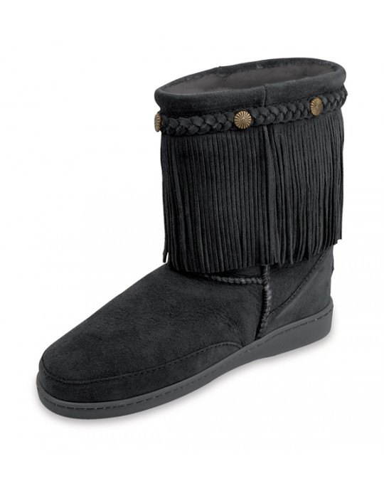 Winter Sheepskin (Lammfell) Fransenstiefel  in 2 Farben