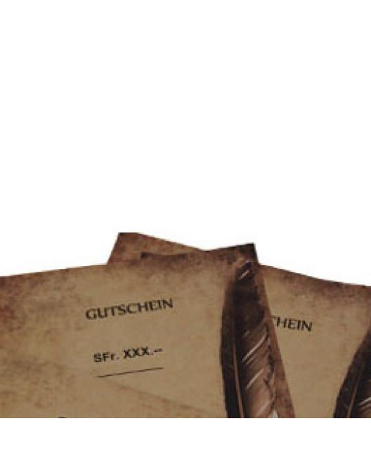 !Laden Geschenks-Gutschein - im Laden und Online, ausgedruckt