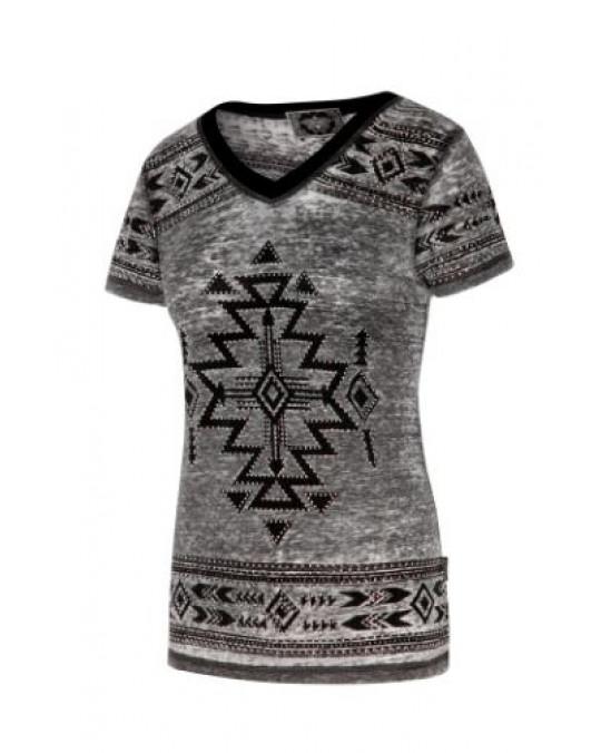 """LANA"" glitzerndes Western Damen T-Shirt"
