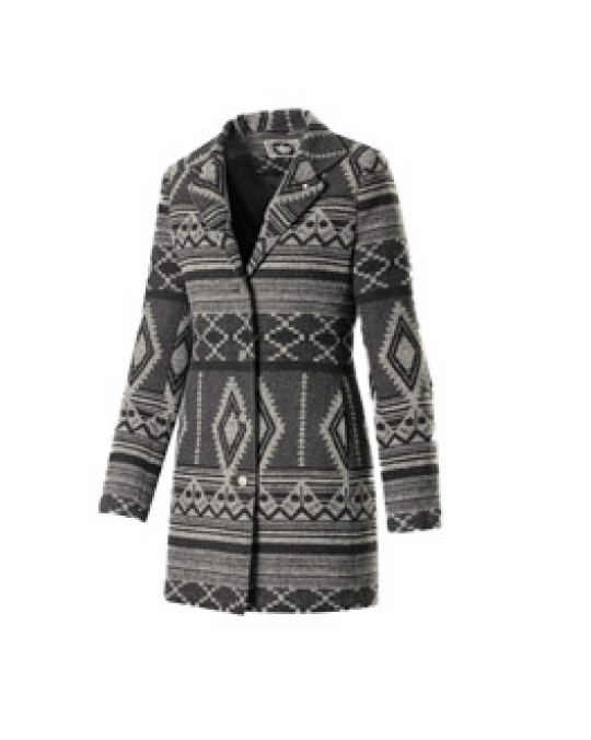"""Grey"" Geometric Design- Damen Ethno Jacke"